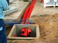 tubazioni cavidotti sotterrati e schermati con rete