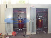 cabina in prefabbricato con 3 gruppi di trasformatori